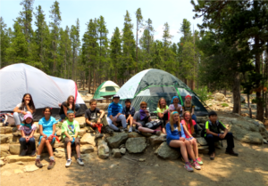 Youth on a 4-H camping trip
